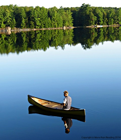 The calm canoeist